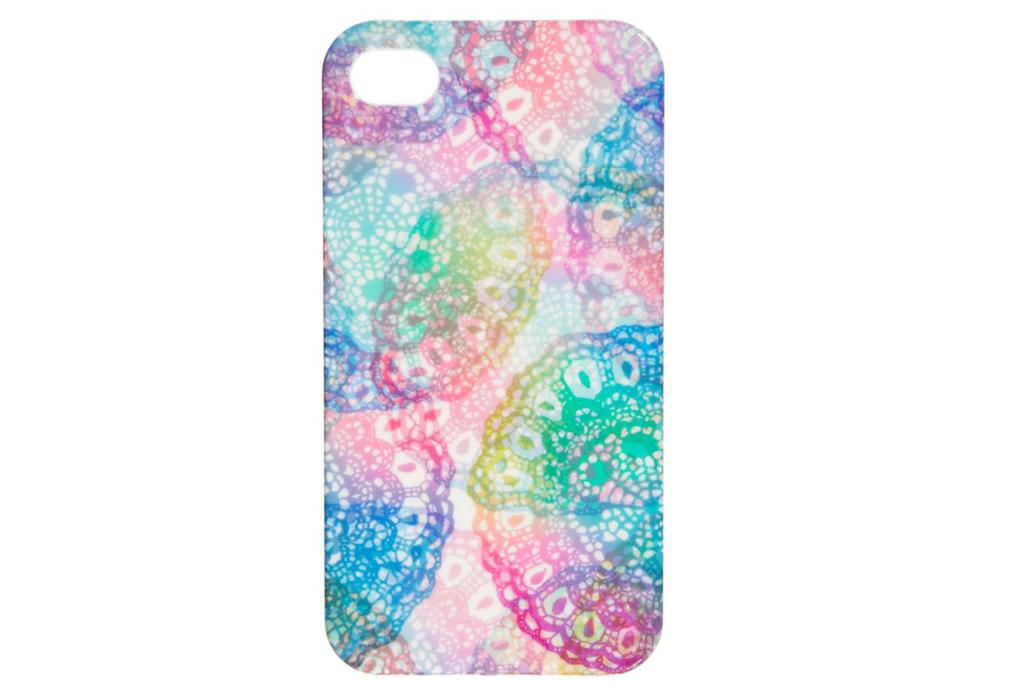 """ASOS iPHONE 4 CASE, $18: This plastic neon-crochet iPhone case is the perfect accessory (because, let's be honest, most of us spend more time with our phones in our hands than our handbags).  <a href=""""http://www.asos.com/ASOS/ASOS-iPhone-4-Case-In-Exclusive-Crochet-Print/Prod/pgeproduct.aspx?iid=3534682&cid=16095&sh=0&pge=2&pgesize=36&sort=-1&clr=Crochet+print"""" target=""""_blank"""">Available at Asos.</a>"""