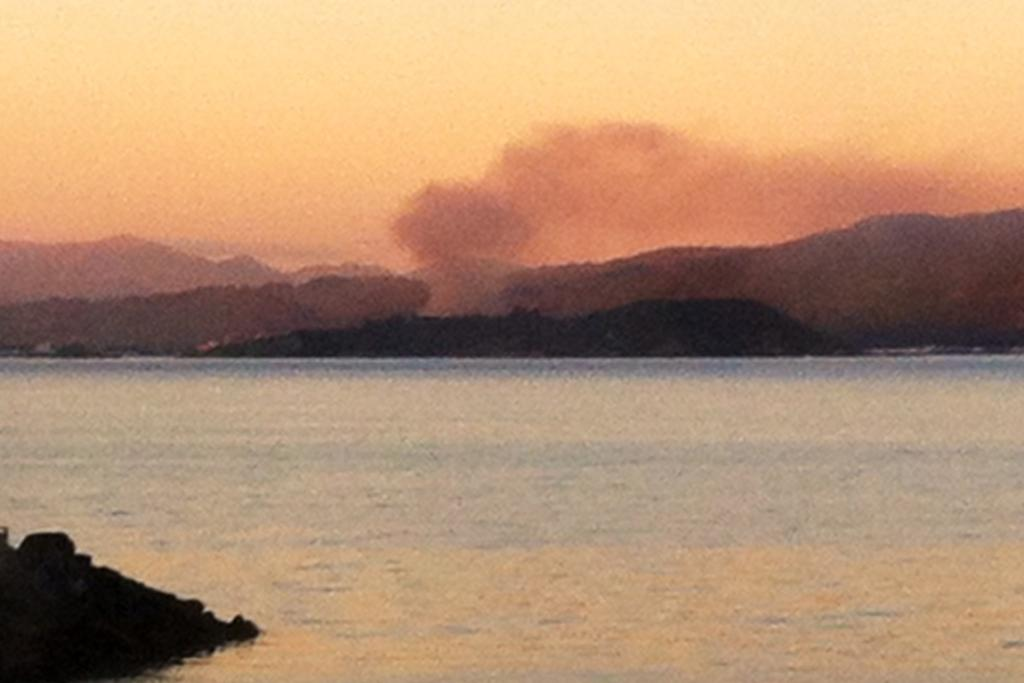 The fire was visible from Evans Bay in Wellington.