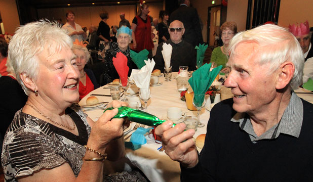 Gellie and John Neilson at the ILT Senior Citizen Christmas dinner in Invercargill.