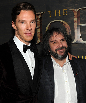 "DOUBLE ACT: Benedict Cumberbatch and Peter Jackson attend the premiere of Warner Bros' ""The Hobbit: The Desolation of Smaug"" at TCL Chinese Theatre in Hollywood."