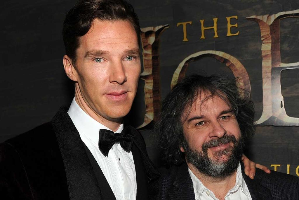 Actor Benedict Cumberbatch and Peter Jackson attend the premiere of The Hobbit: The Desolation of Smaug in Los Angeles