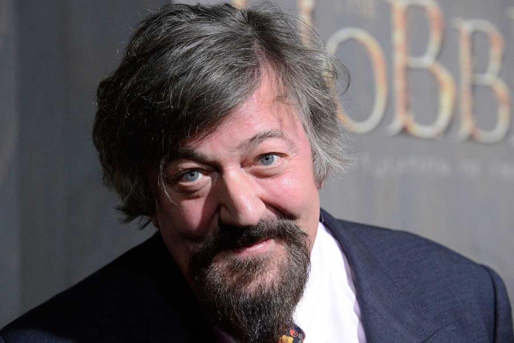 Cast member Stephen Fry attends the premiere of The Hobbit: The Desolation of Smaug in Los Angeles.