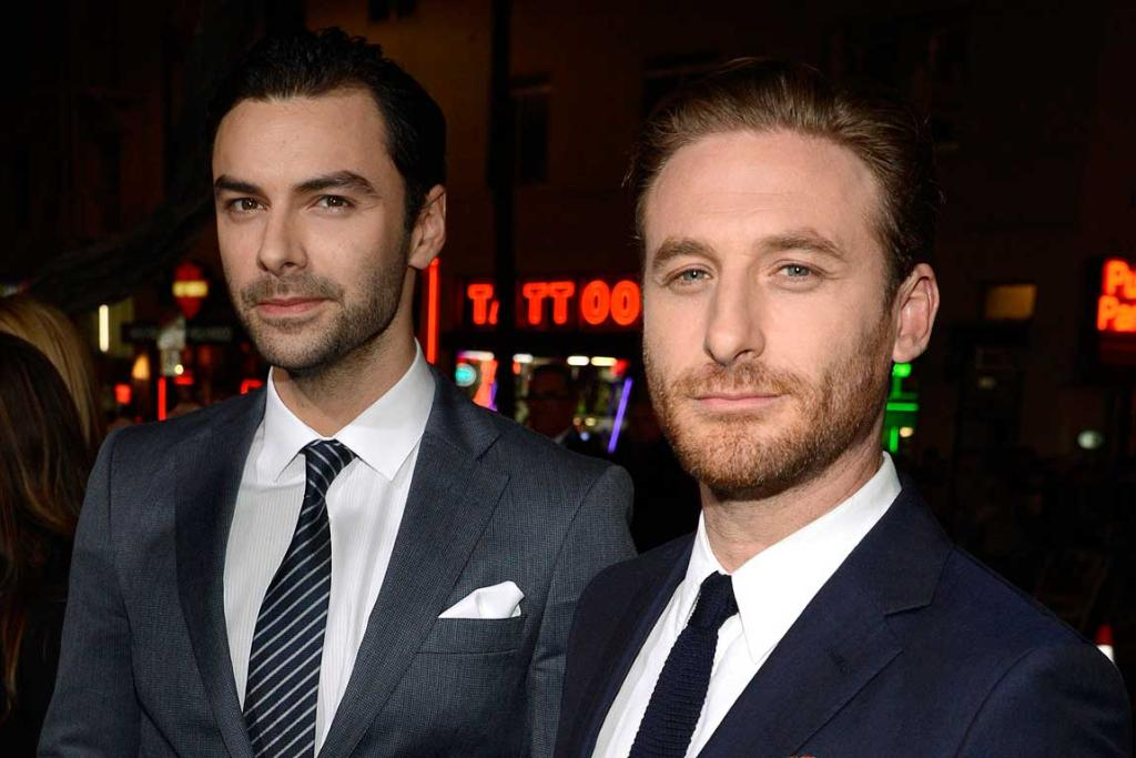 Dwarfs Aidan Turner (L) and Dean O'Gorman attend the premiere of The Hobbit: The Desolation of Smaug in Los Angeles.