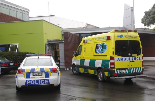Emergency services at Kilbirnie Aquatic Centre