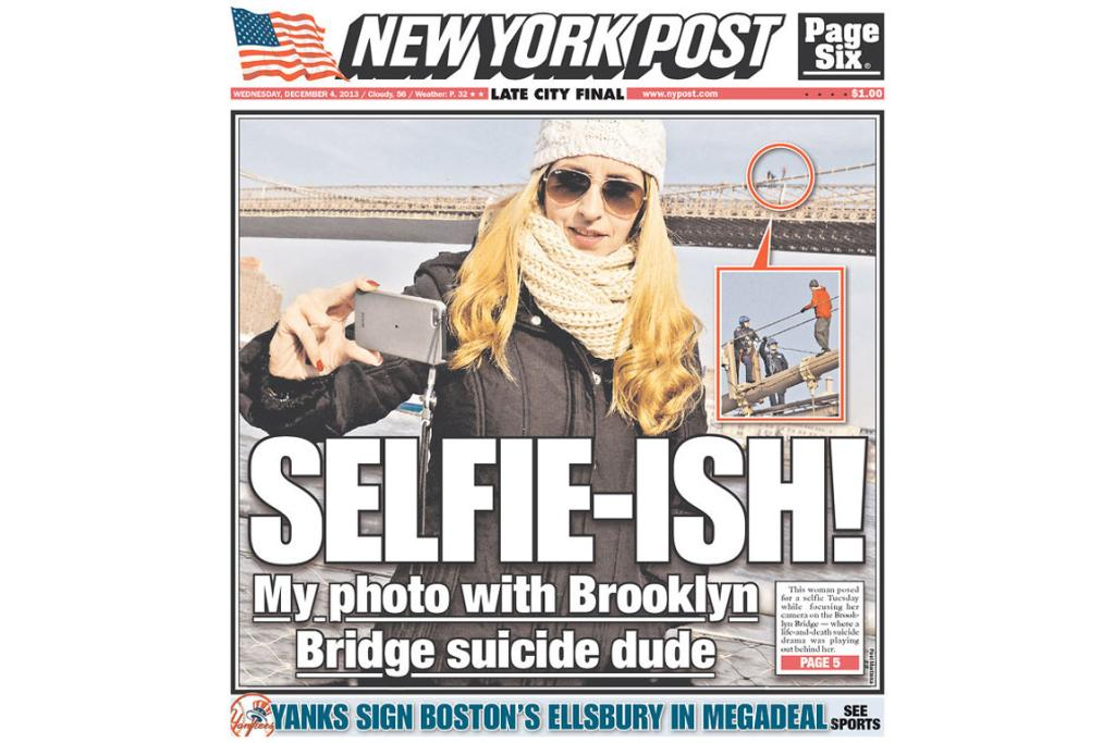 According to the New York Post, this woman posed for a selfie with an attempted suicide as her background. Not much more you can say about that.