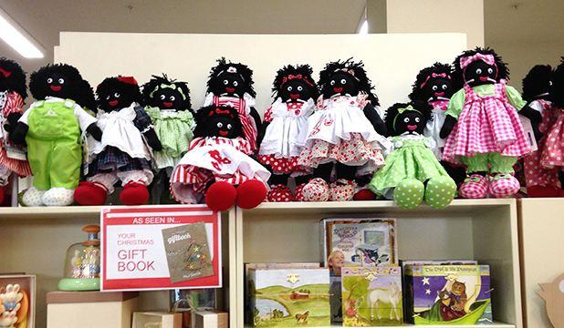 TOY CONTROVERSY: Gollies (Golliwog) dolls on display at H&J Smith Department store in Invercargill.