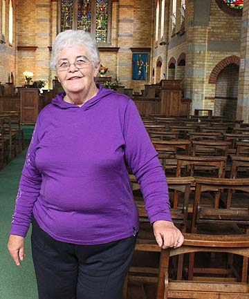 HELP APPRECIATED: Member of Otahuhu's Holy Trinity Anglican Church vestry Ruth Gordon says she is pleased they received funding to fix the chairs in the 85-year-old church.