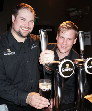 Kelvin Hotel barmen Brendan Mason, left and Nick Rhodes, are the 2013 Guinness Pint Masters.