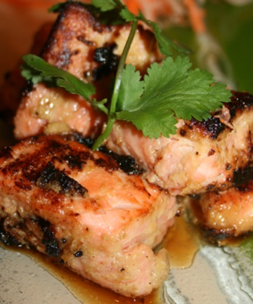 FISH DISH: Stan Dubious shares his recipe for barbecued salmon with a summer vinaigrette.