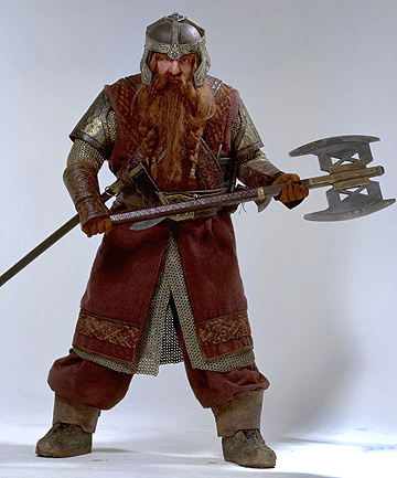 BANG FOR BUCKS: Lord of the Rings star John Rhys-Davies with the axe that sold for $183,000.