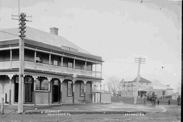 Early view: Ngaruawahia's Waipa Hotel on State Highway 1 at the northern end of town was built in the late 1800s.