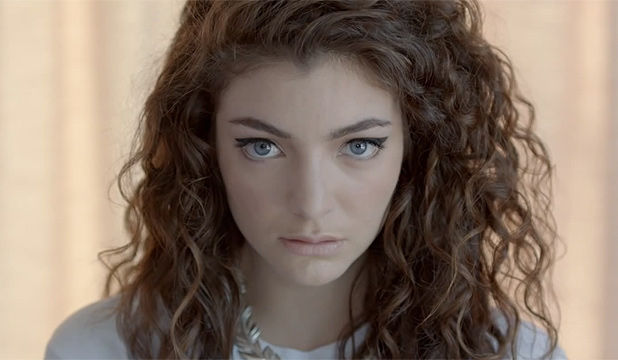 REIGNING QUEEN: Lorde's Royals has been nominated for Song of the Year at the Grammys.