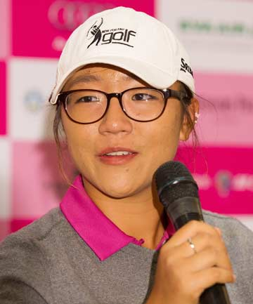 ON TARGET: Lydia Ko speaks at a press conference at the World Ladies Masters tournament in Taipei City.