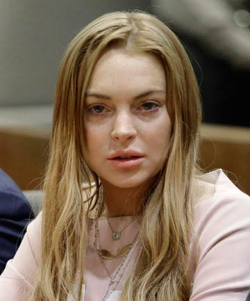 FEELING THE HEAT: Lindsay Lohan.