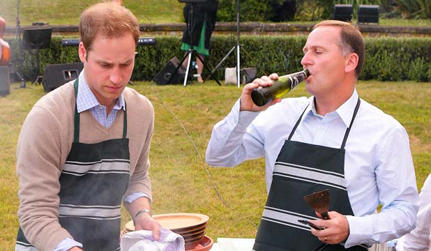 PM John Key with Prince William