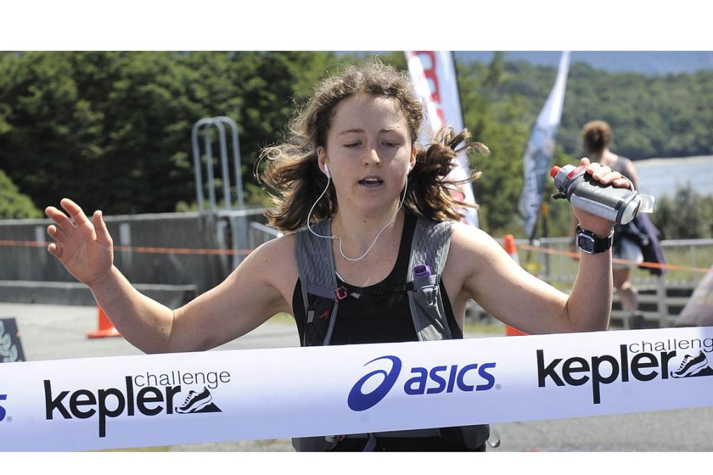 Ruby Muir, of Napier, wins the womans Kepler Challenge on Saturday at Te Anau.