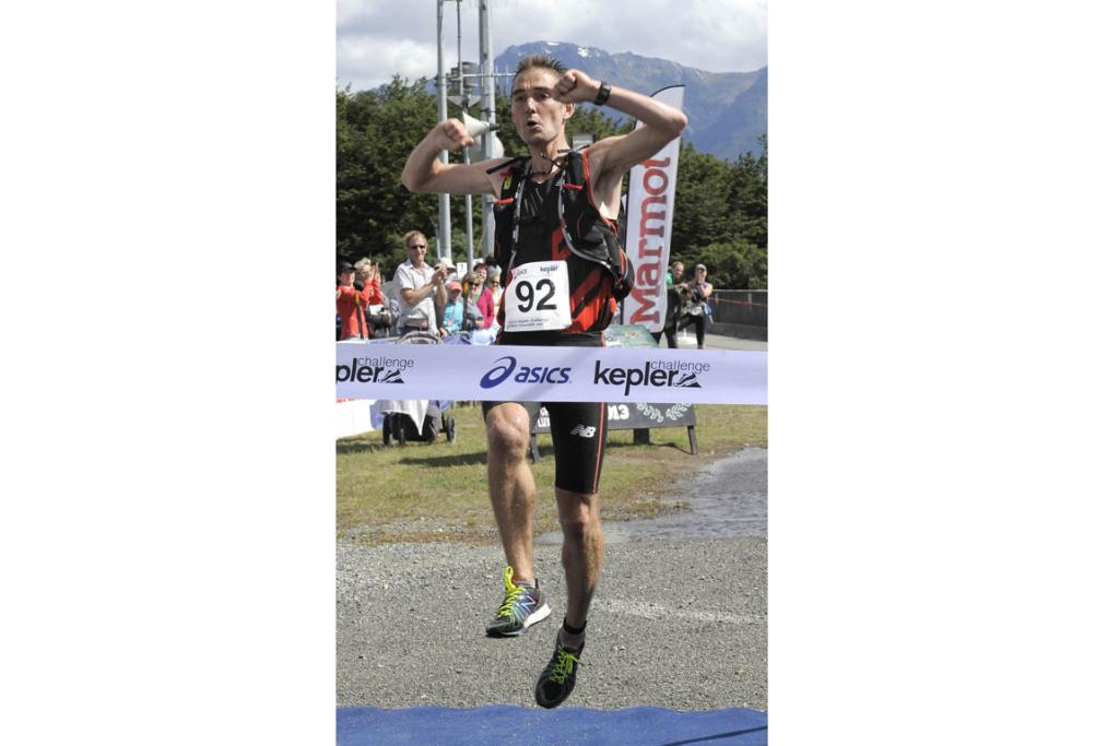 Australian Olympic Marathoner Martin Dent wins the Kepler Challenge at Te Anau on Saturday and breaks the race record.