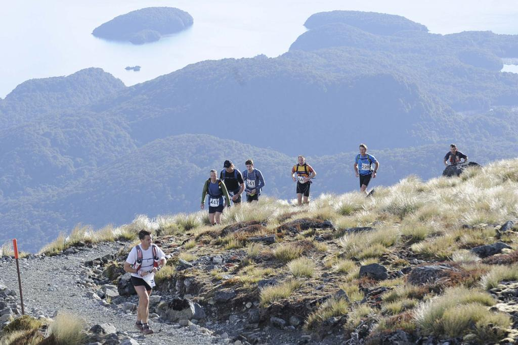 Competitors during the Kepler Challenge at Te Anau on Saturday.