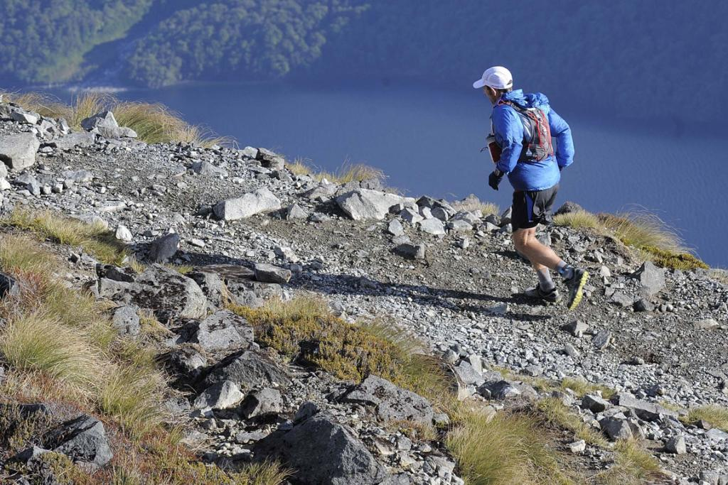 Malcolm Law during the Kepler Challenge at Te Anau on Saturday.