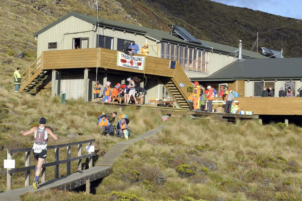 The Luxmore Hut during the 2013 Kepler Challenge at Te Anau on Saturday.