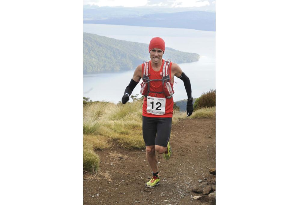 Vajin Armstrong heads towards the Luxmore Hut during the 2013 Kepler Challenge at Te Anau on Saturday.