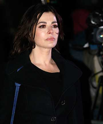 UNBOWED: Nigella Lawson leaving court.
