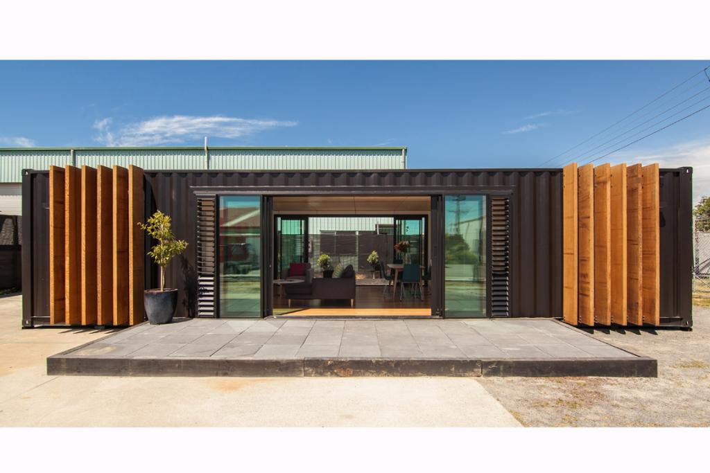 House of the week containers for Steel container home plans