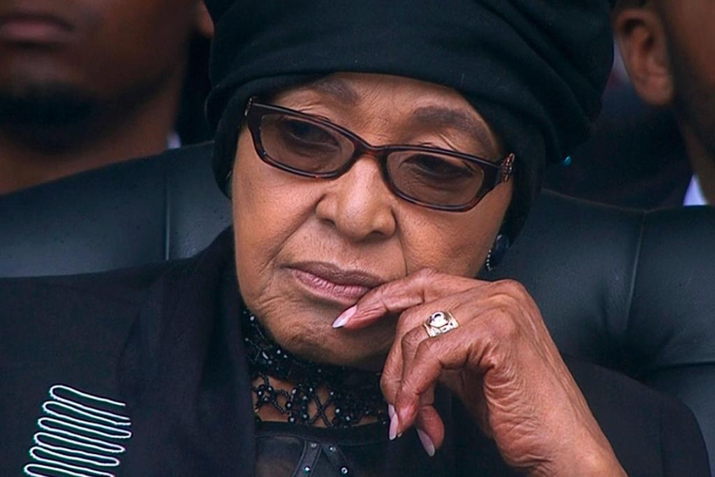 EX-WIFE: Winnie Mandela, ex-wife of Mandela, is seen in this still image from the South Africa Broadcasting Corporation.