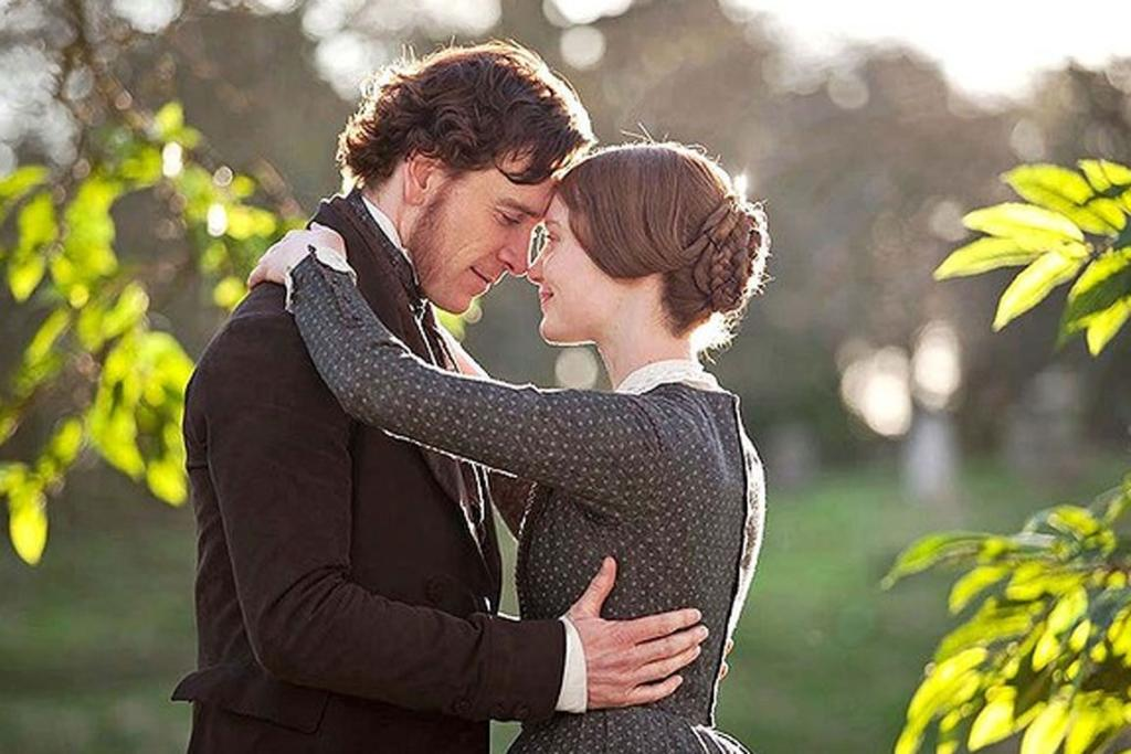 Jane Eyre - Cary Fukunaga's masterful 2011 adaptation of Charlotte Bronte's novel gives you enough burning chemistry - between Mia Wasikowska's Jane and Michael Fassbender's Rochester - to fuel a thousand Love Actually's.