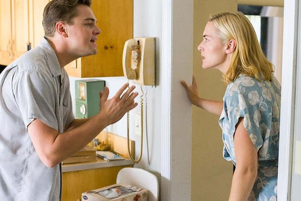 """Revolutionary Road - Or, if Rickman and Thompson's Love Actually woes still didn't ring true for you, how about a touch of realism? Let's hear it for Kate and Leo in the film that could be renamed """"the world's most effective contraceptive device""""!"""