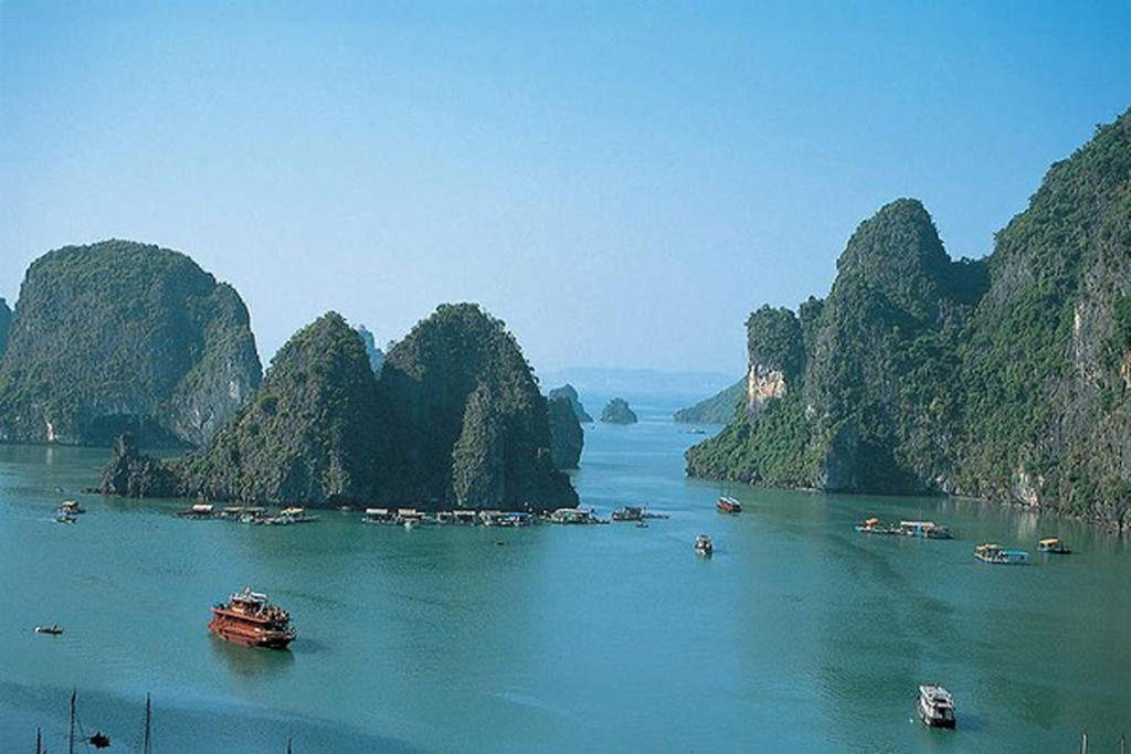 Halong Bay, Vietnam. A boat trip through these amazing islands is the perfect antidote to Hanoi's insanity.