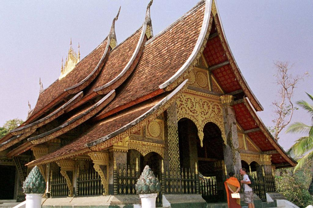 Luang Prabang, Laos. Tour temples, eat from street stalls, or drink at French wine bars or do them all.