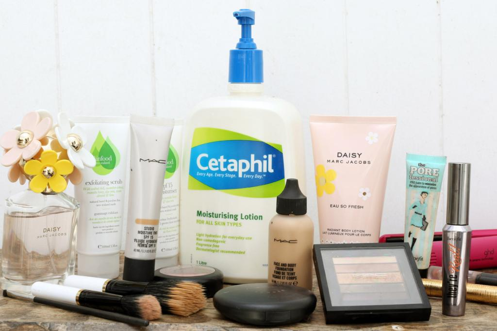 HER FAVOURITES: Cult product Cetaphil is her go-to moisturiser, but for treats, she loves M.A.C.