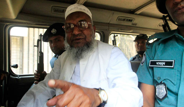 SAVED FOR NOW: Abdul Quader Mollah's lawyers go to judge's home where they secure a postponement of his execution.