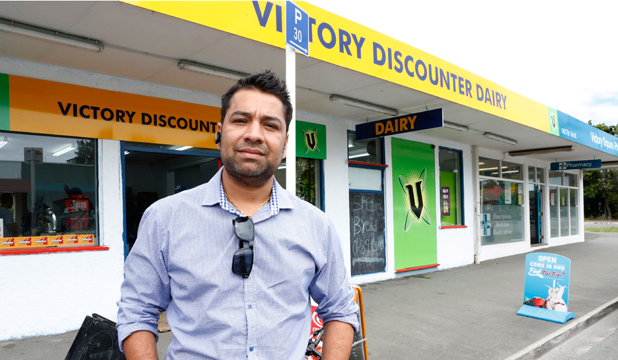 NEW START: Sunny Singh Bal, new operator of Victory Discounter at Victory Square is opening a string of outlets in the area after moving his business from Canterbury.