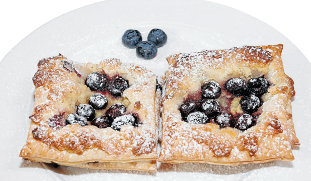 Blueberry and almond pastries