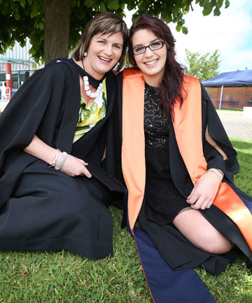 Mother and daughter share graduation day