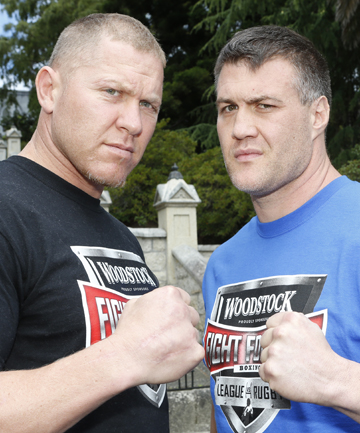 GRRR: Boxers Shane Cameron and Brian Minto in Nlson before their Fight for Life match this weekend.