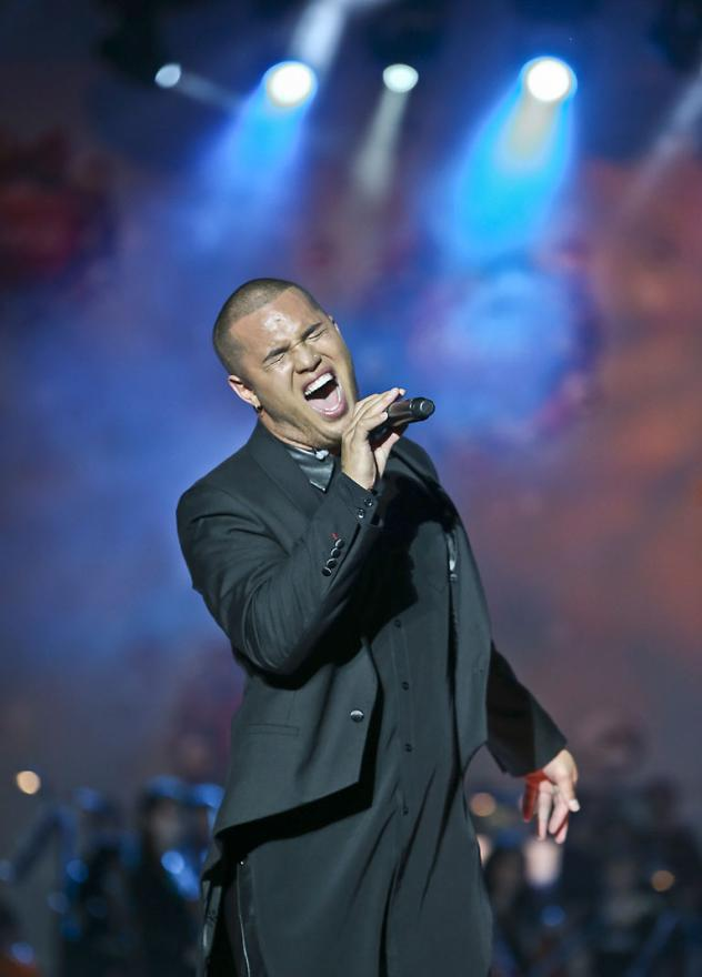 DAPPER: Stan Walker during Coca Cola Christmas in the Park held at the Auckland Domain.
