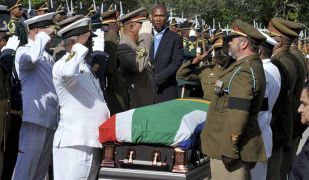 Nelson Mandela coffin