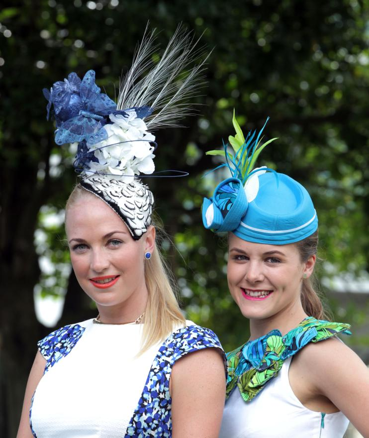 Winner of The Port Boutique Best Hat competition Alisha Maxwell, left, and runner-up Courtney Newdick.