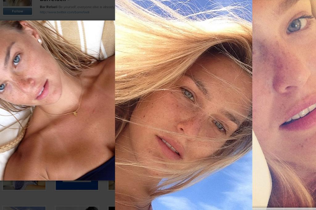 BAR REFAELI: The Israeli model fell into the 'trying-to-do-sexy-eye-but-am-actually-looking-like-I-regret-that-seafood-laksa' trap three times this week.