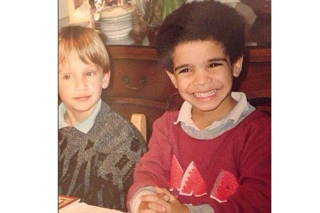 DRAKE: A young Champagne Papi in an extraordinary watermelon jumper wins throwback Thursday this week.