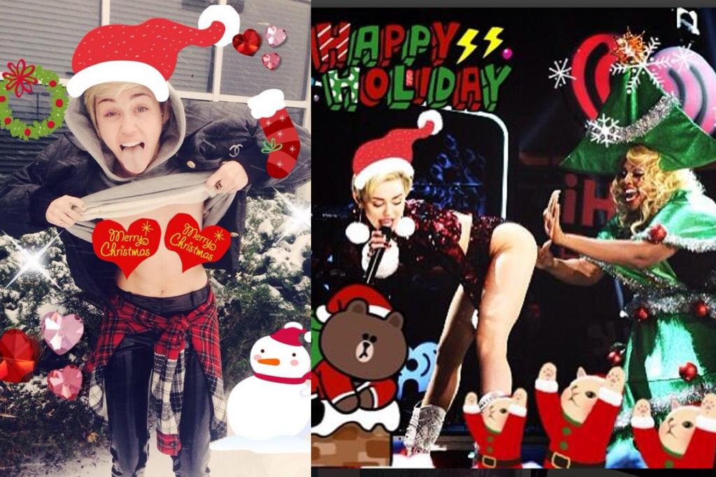 MILEY CYRUS: Somebody get Santa on the blower and tell him it's time for retirement ... she's officially broken Christmas. Boss, I'm going to have to take the rest of the day off to get my spirits back up: I need an IV drip of Christmas mince; Muppets The Christmas Carol on VHS and an eight hour YouTube mix of Sinatra carols to listen to while I sleep. It's the only remedy ...