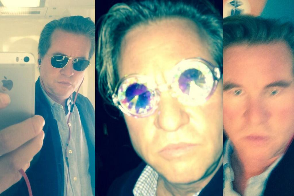 """VAL KILMER: The Kilmeister continues to have a love affair with the selfie ... but maybe he too has a ghost hand in his iPhone, as dude's <a href=""""http://www.youtube.com/watch?v=5l1Oy9T7-S8"""" target=""""_blank"""">shakier than J-Lo's voice without autotune.</a>"""