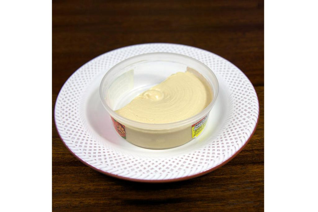 HUMMUS: 10 tablespoons or 5/8 of an average container (10 grams of protein; 350 calories).