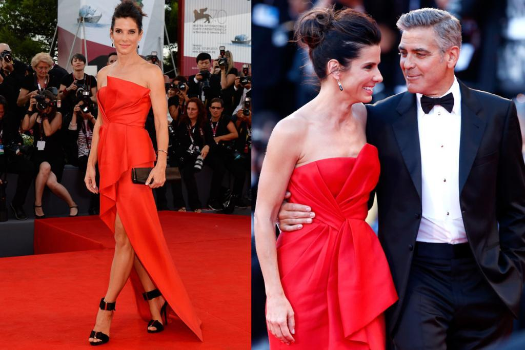 THE BEST - SANDRA BULLOCK, AUGUST: Sandra Bullock had a great fashion year, and this Venice look was her best. I love how she made this asymmetrical J. Mendel gown very her by adding bold black accessories (those Roger Vivier shoes are pretty amazing). Oh and, PS, can her and Clooney just get together already? Even just for a faux show-mance ... it would make me so happy.