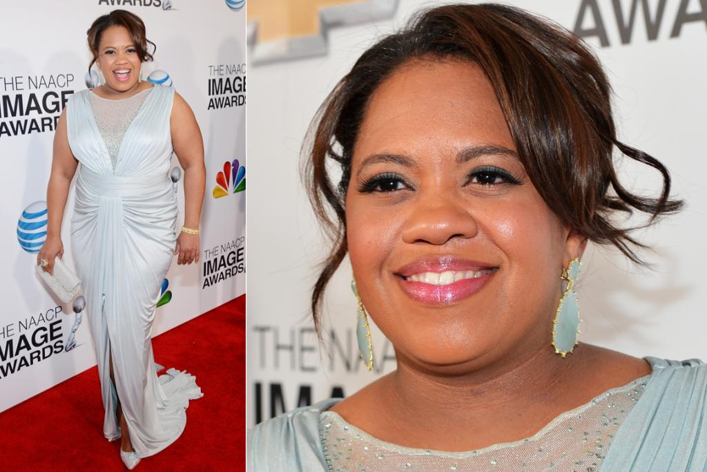 THE BEST - CHANDRA WILSON, FEBRUARY: We're used to seeing her storm around in scrubs as Dr Bailey, but Chandra Wilson looked beautiful in this Tadashi Shoji gown at the NAACP Image awards. The jersey fabric drapes beautifully, and this ice blue colour was a refreshing change from 2013's overload of jewel tones. Gorge.