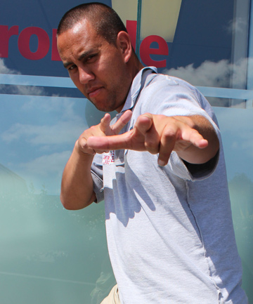 RAP TALENT: Freestyle rapper Tihei Harawira is rapping his way to success.