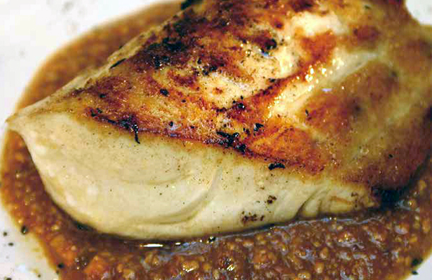Fish with Anchovy and Almond Sauce.